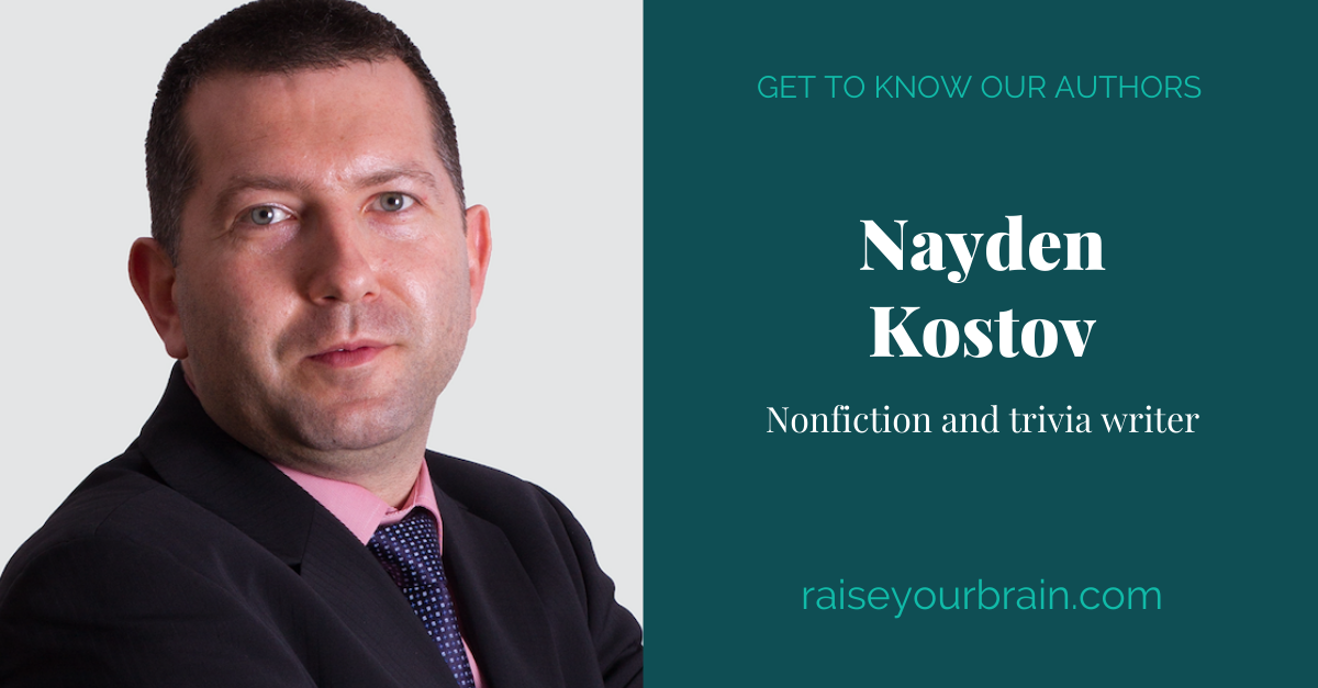 View post titled Author Q&A: Nayden Kostov