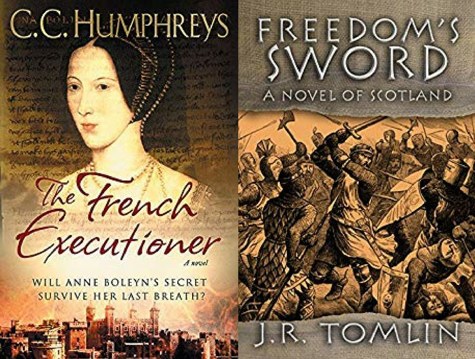 Historical fiction novels by C.C. Humphreys and J.R. Tomlin