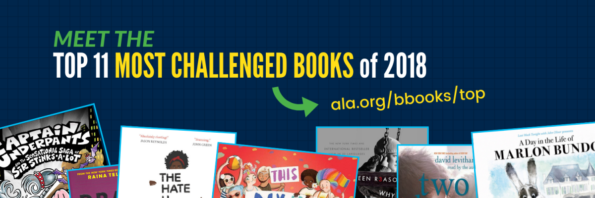View post titled The most frequently challenged, banned, and relocated books of 2018