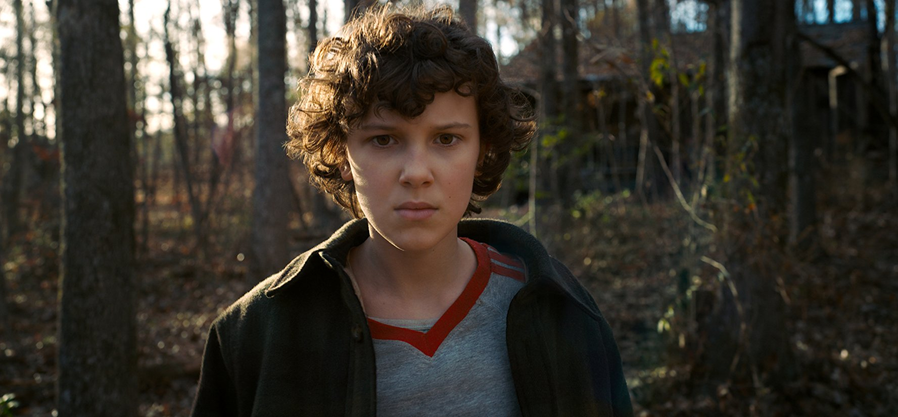 "Millie Bobby Brown plays Eleven in the Netflix TV show ""Stranger Things."""