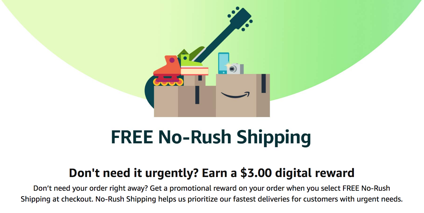 View post titled Want $3 off your next ebook? Pick Amazon Prime's no-rush shipping