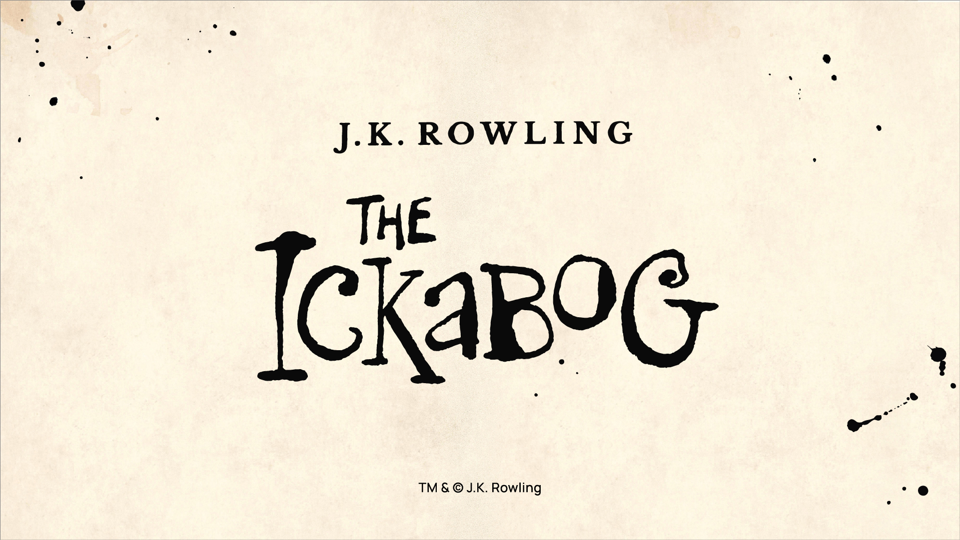 "View post titled J.K. Rowling announces new serialized story called ""The Ickabog"""